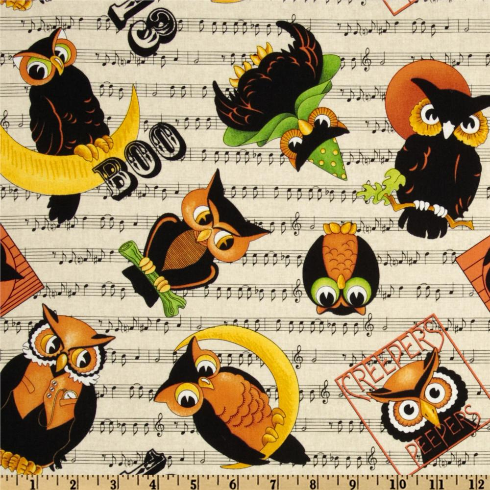 Creepers Peepers Music Owls Cream