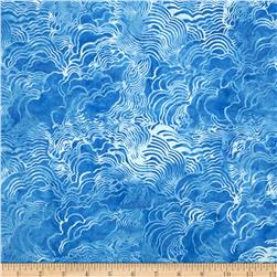 Island Batik Raindrops Keep Falling on My Head Swirl M. Blue