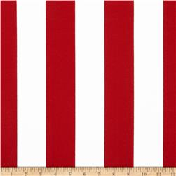 Premier Prints Indoor/Outdoor Premier Stripe Rojo Fabric