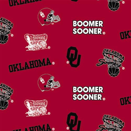 Collegiate Flannel Print University of Oklahoma Allover Crimson