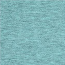 Tri Blend French Terry Knit Pale Aqua