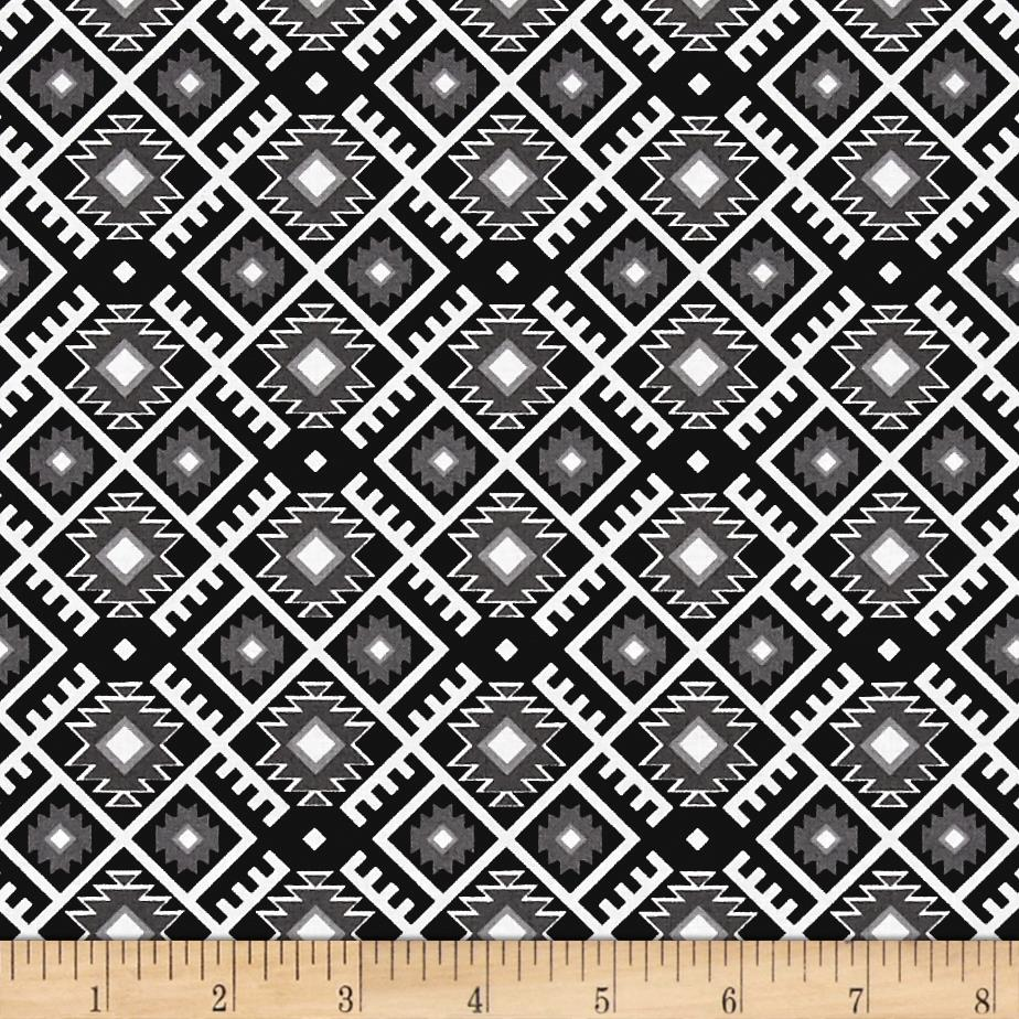 Mystical Natives Aztec Argyle Black