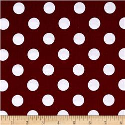 Riley Blake Basics Medium Dot Burgundy