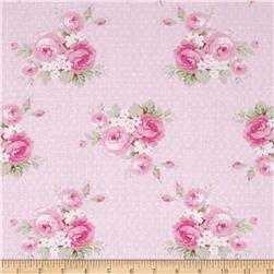 Tanya Whelan Slipper Roses Dottie Rose Pink