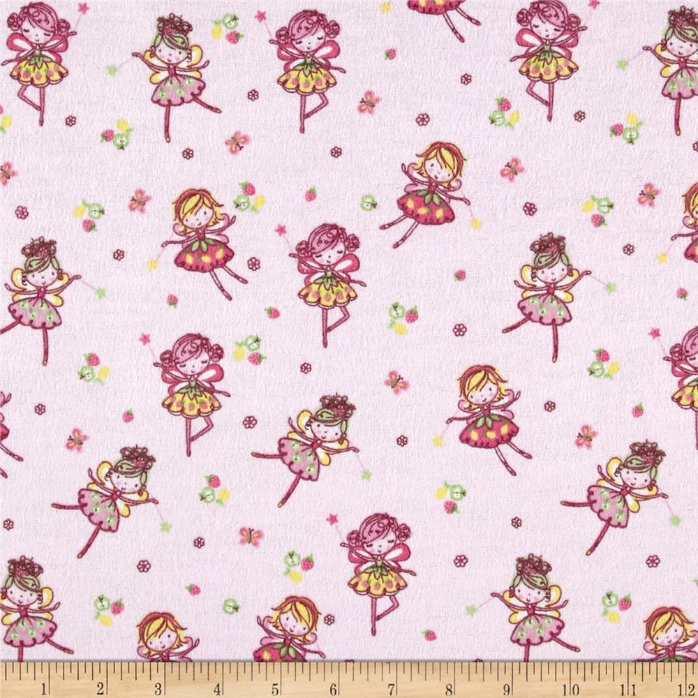 Comfy Flannel Flying Fairies Pink