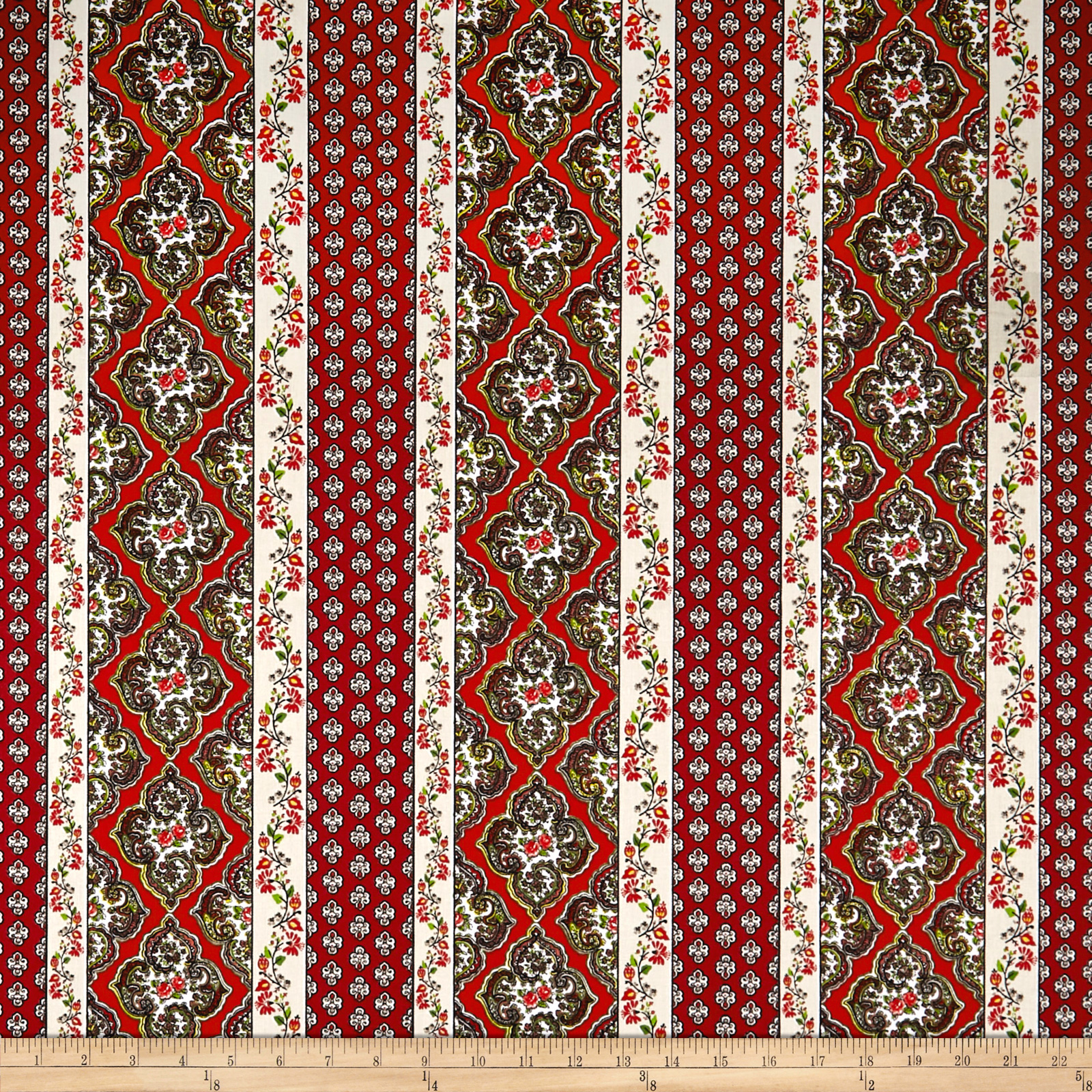 STOF France Provence Avignon Rouge Fabric