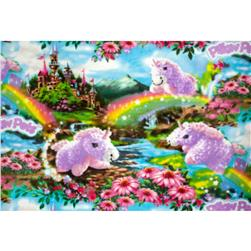 Fleece Pillow Pet Magical Unicorn Multi