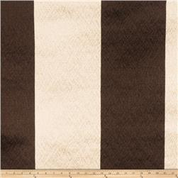 Fabricut Echo Stripe Faux Silk Walnut