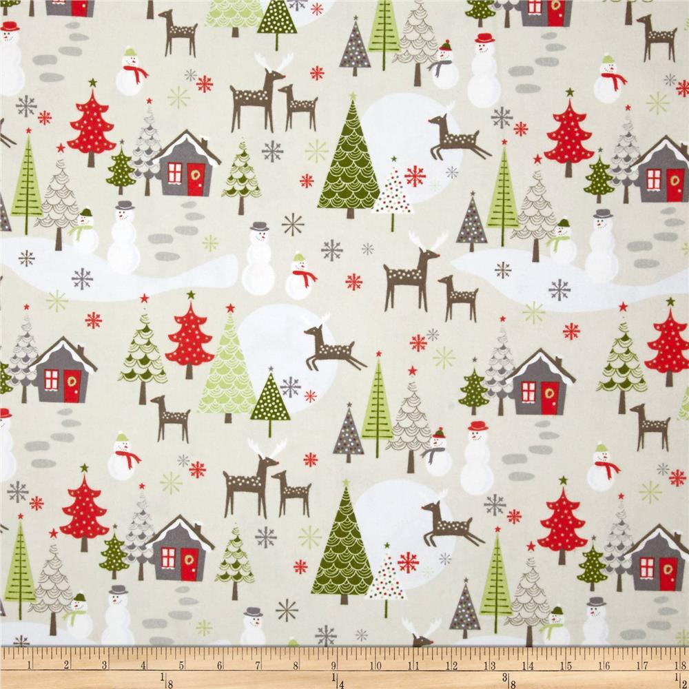 Riley Blake A Merry Little Flannel Scenic Taupe