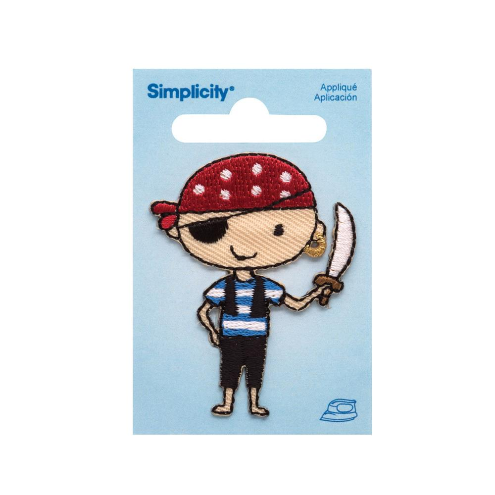 Simplicity Iron On Applique Pirate Boy