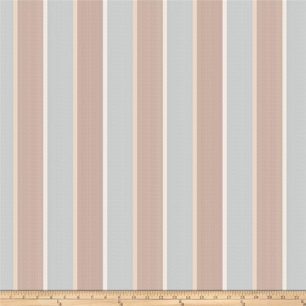 Jaclyn Smith 02131 Canopy Stripe Jacquard Robins Egg