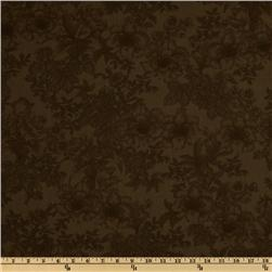 108'' Wide Tonal Bouquet Quilt Backing Brown