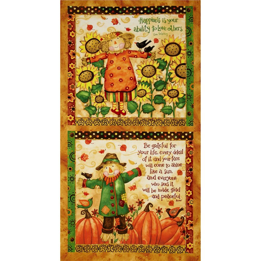 Grateful Harvest 24'' Scarecrow Panel Multi