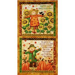 Grateful Harvest 24 In. Scarecrow Panel Multi
