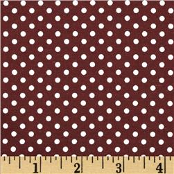 Moda Dottie Small Dots Burgundy