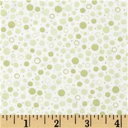 Sorbets Dots Green Fabric
