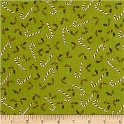 Woodland Christmas Candycane Green