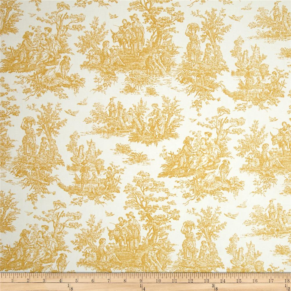 Premier Prints Jamestown Toile Goldenrod