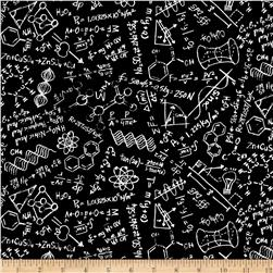 Timeless Treasures Scientific Method Chalkboard Black