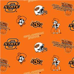 Collegiate Fleece Oklahoma State University Tossed Orange Fabric
