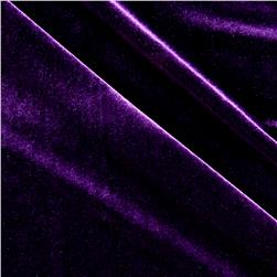 Stretch Velvet Plum