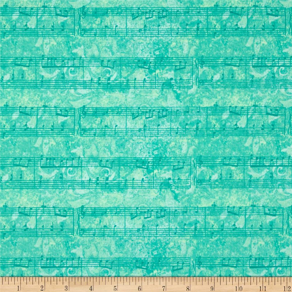Joyful Medley Musical Notes Green