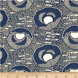 Timeless Treasures Charleston Metallic Speakeasy Navy