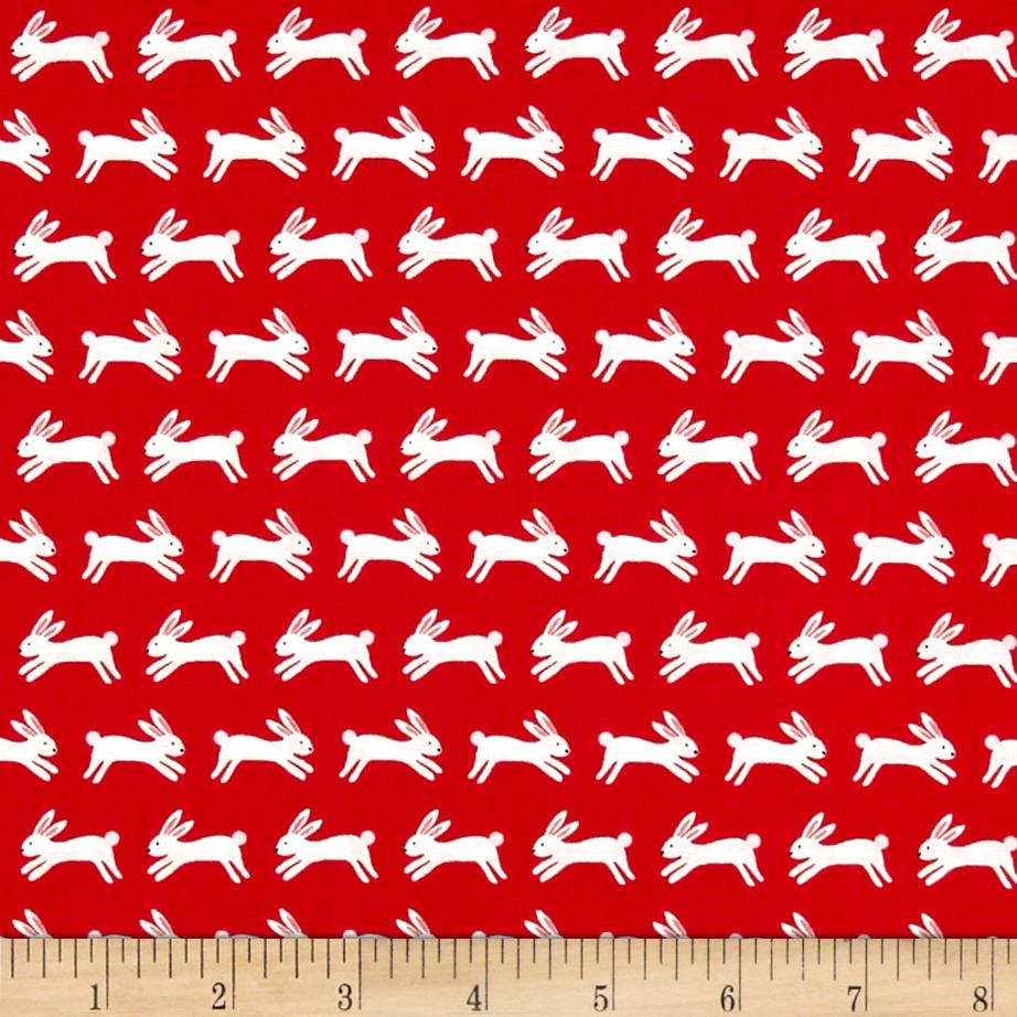 Forest Talk Jumping Rabbits Red