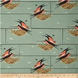 Birch Organic Charley Harper Nurture Barn Swallow Grey
