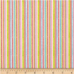Riley Blake Happy Flappers Stripes Pink Fabric