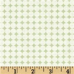 Word Play Dots Green Fabric