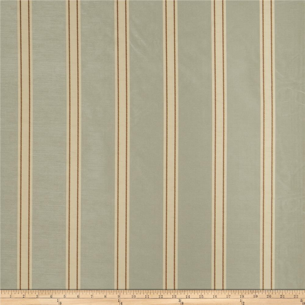 Fabricut Nesta Stripe Faux Silk Lake