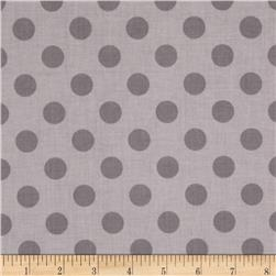 Riley Blake Basics Medium Dots Grey