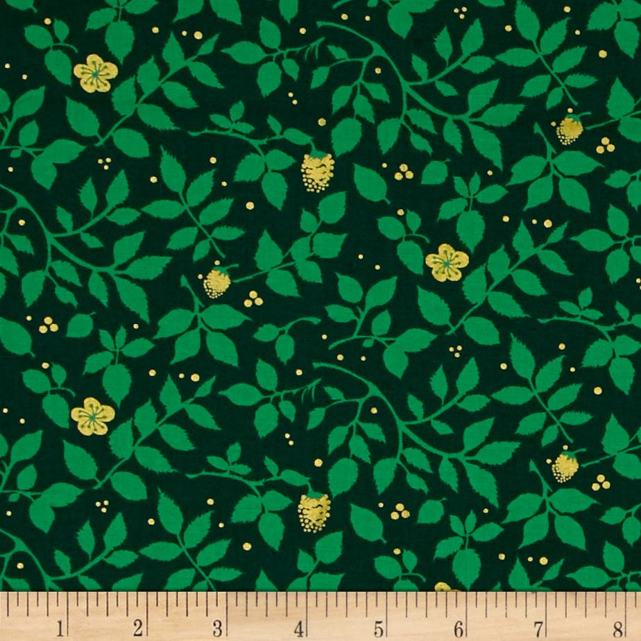 Michael Miller Brambleberry Ridge Metallic Evergreen