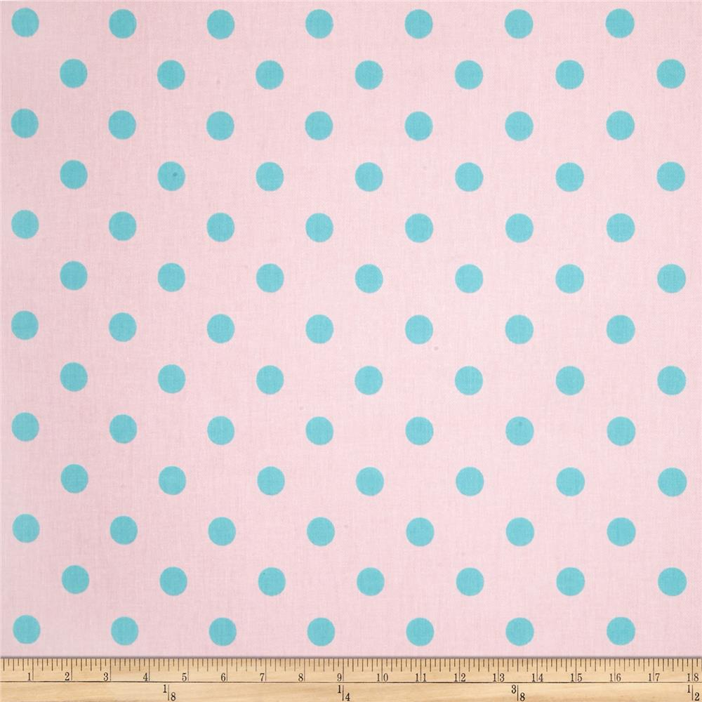 Premier Prints Polka Dot Twill Bella/Harmony Blue