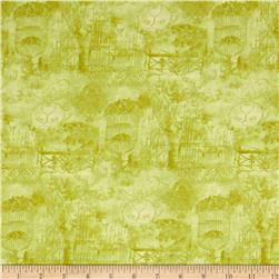A Walk In The Park Toile Green