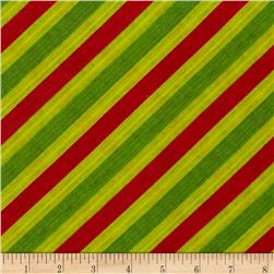 Frosty Flakes Diagonal Knit Stripe Green