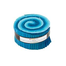 "Robert Kaufman Kona Solids Pool Party 2.5"" Jelly Roll"