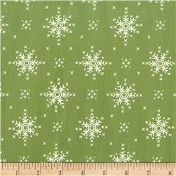 Michael Miller Woodland Winter Stitch Snowflake Mistletoe