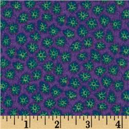 African Inspirations Starbursts Purple/Green