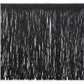 "12"" Metallic Chainette Fringe Black"