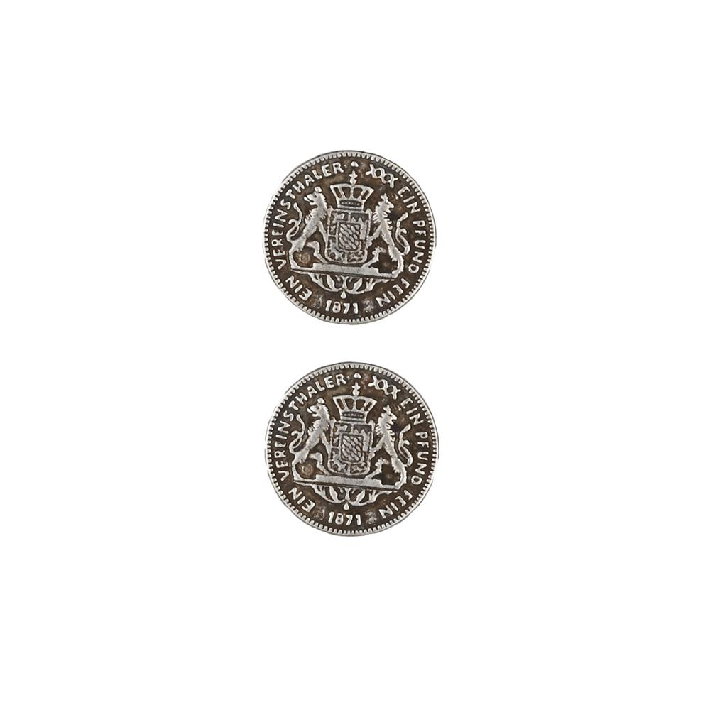 Dill Buttons 11/16'' Full Metal Button Antique Silver
