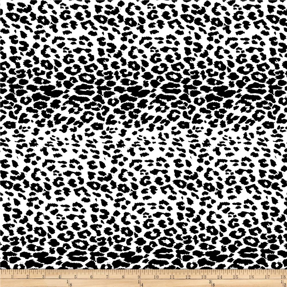 Cotton Lycra Spandex Twill Print Cheetah Black/White