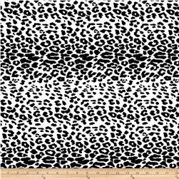 Cotton Lycra Twill Print Cheetah Black/White