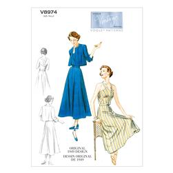Vogue Misses' Jacket, Dress and Belt Pattern V8974 Size A50