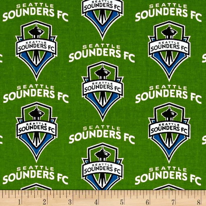 MLS Cotton Broadcloth Seattle Sounders Green