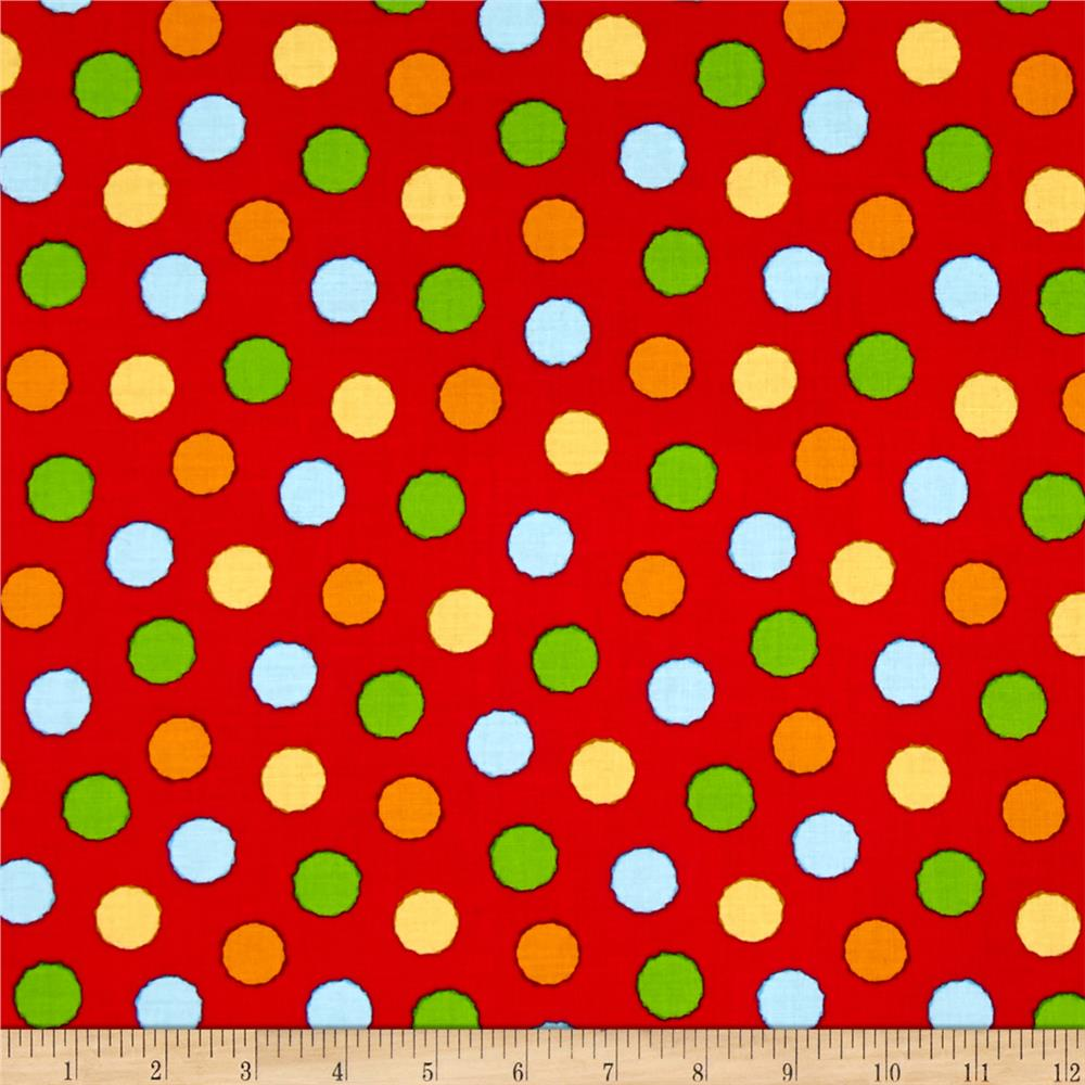 ABC-123 Dots Red