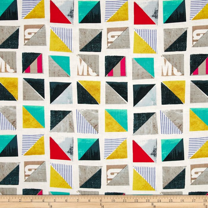 Story Half Square Triangle Multi Fabric by Windham in USA