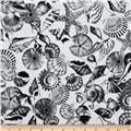 Kanvas Neptune's Dreams Tossed Seashell Black/White