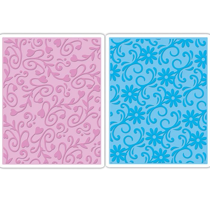 Sizzix TIEF 2PK - Floral Flourishes & Vines Set by Scrappy C
